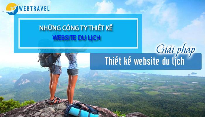 Những công ty thiết kế website du lịch