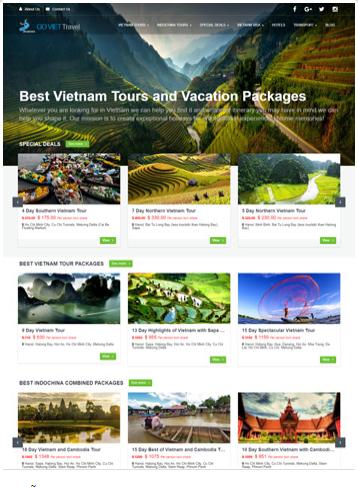 thiet ke website du lịch mau nam 2020