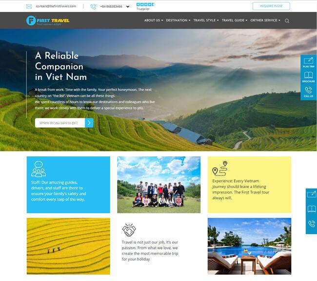 mẫu web du lịch đẹp chuyên nghiệp