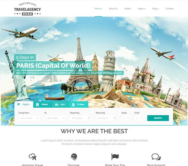 Những mẫu giao diện web du lịch đẹp