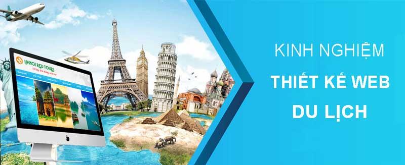 Klinh ngiệm của công ty trong lĩnh vực thiết kế website du lịch