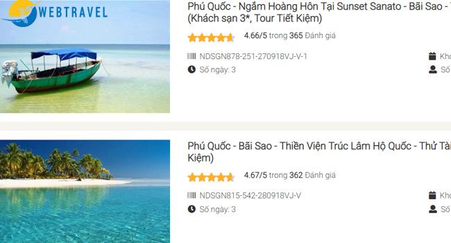 Lưu ý khi thiết kế website du lịch - đánh giá tour