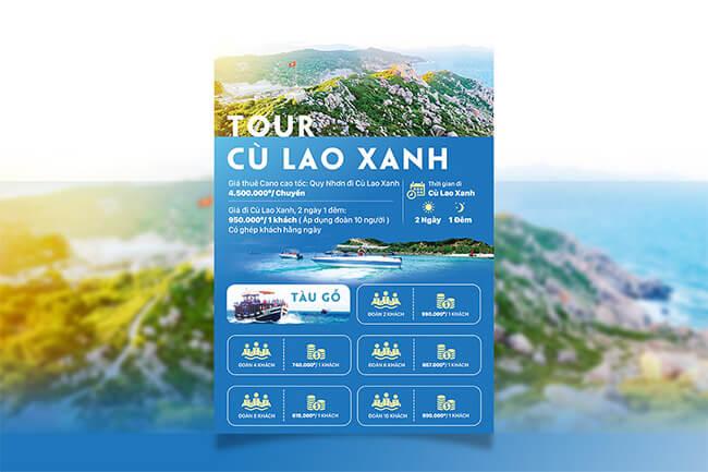 mẫu quảng cáo tour du lịch