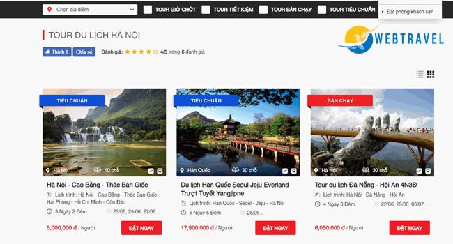 Kinh doanh du lịch lữ hành cần quảng cáo tour trên website