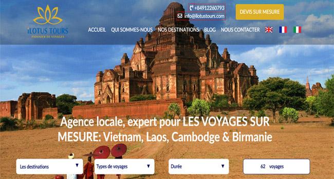 Chi phí thiết kế website du lịch